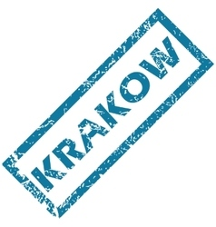 Krakow rubber stamp vector