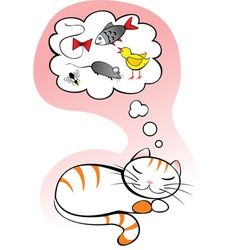 Cat dreams vector