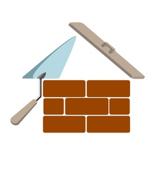 house building vector image