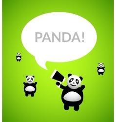 Panda cartoon character vector