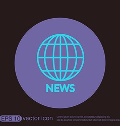 Globe symbol news symbol news icon globe planet vector