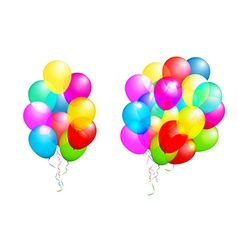Color glossy balloons set isolated on white in vector