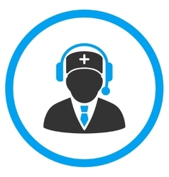 Medical emergency manager rounded icon vector