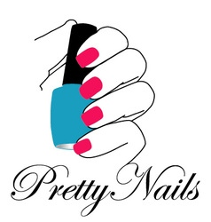 Pretty nails with a nail polish in hand vector