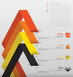 Line arrow infographic design template vector