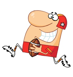 Athletic Man Playing American Football vector image vector image