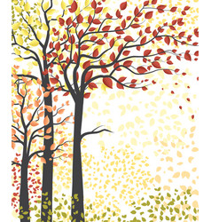 Autumn multicolored forest vector