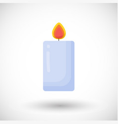Burning candle flat icon vector