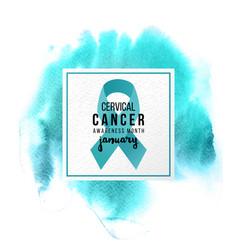 Cervical cancer support emblem vector