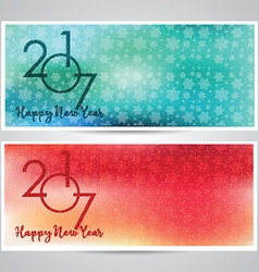 Decorative happy new year backgrounds vector