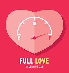 Full love vector image vector image