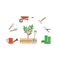 gardener with garden tools vector image vector image