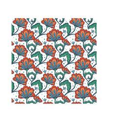 hand drawn batik flower pattern vector image vector image