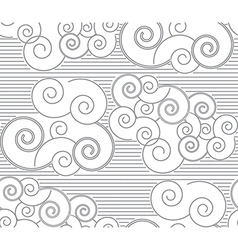 Japanese patterns with clouds vector
