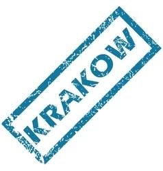 Krakow rubber stamp vector