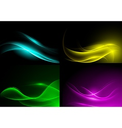 Light Wave Background Set vector image
