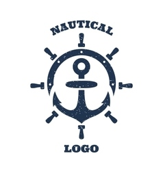 Lighthouse and anchor logo vector