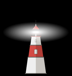 lighthouse with the light on vector image