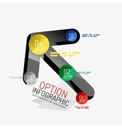Minimal line design office web infographics vector image vector image