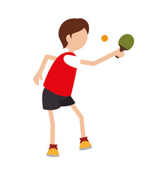 Ping pong player avatar vector