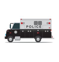 police car for transportation of criminals in vector image vector image