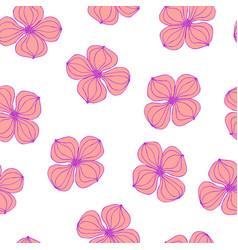 Seamless background image colorful botanic flower vector