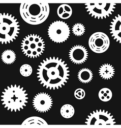 Seamless gear and cogwheel background vector image