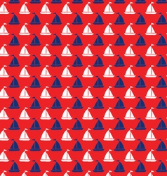 Seamless sailboats vector