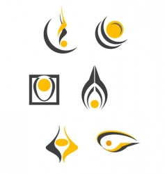 set of abstract symbols vector image