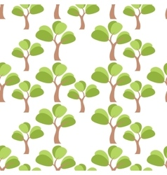 Simple tree seamless vector image