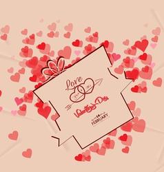 Valentines day gift background retro vector