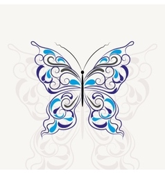 Vintage pattern in shape of a butterfly vector image vector image