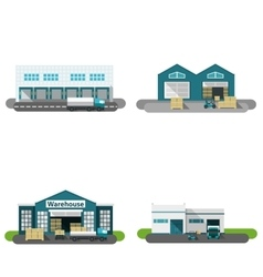 Warehouse Building Flat vector image