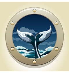 Whale tail vector