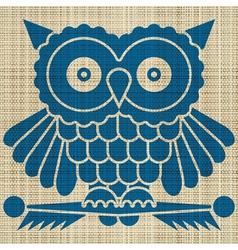 owl print vector image