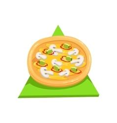 Vegetarian pizzapart of italian fast food cuisine vector