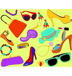 Womans accessory set vector