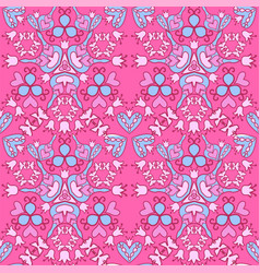 seamless floral cute background vector image