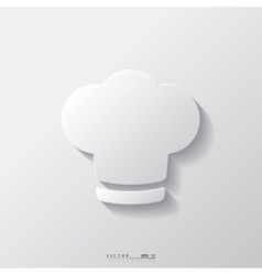 Chef cap icon cooking cap vector
