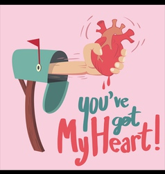 You have got heart vector