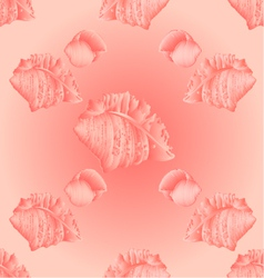 Seamless texture sea shells pink backgroun vector