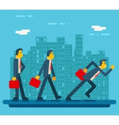 Businessman Characters Standing Walking Running vector image
