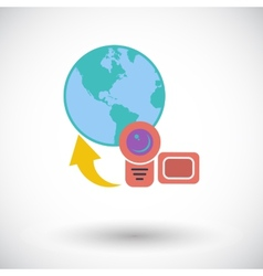 Upload video vector