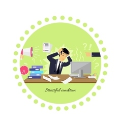 Stressful condition icon flat isolated vector