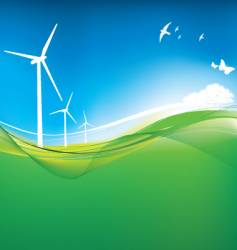 Eco turbine background vector