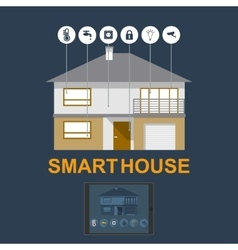 Smart home flat design style vector