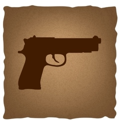 Gun sign vintage effect vector