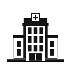 Hospital icon simple style vector