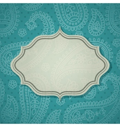 Paisley frame vector image