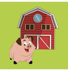 Animal design pig icon isolated vector